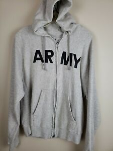 VTG 90s United States Army Talon Classic Spellout Gusset Zipper Hoodie Large