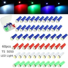60pcs T5 5050-SMD LED Cluster Dash Light Bulbs Kit For Ford Blue Red White Green
