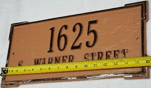 """Vintage Cast Iron Victorian Plaque Decorative Sign Embossed Heavy 16"""" L by 7"""" W"""