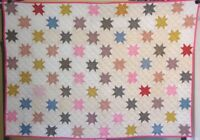ANTIQUE CRIB QUILT SMALL QUILT GREAT FABRICS SALES NOW IN R STORE