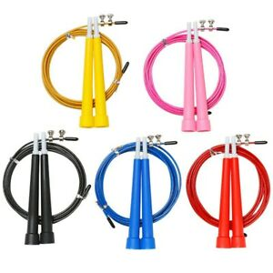 Plastic Skipping Rope Adult Fitness Women Jump Speed Gym Exercise Boxing kids UK