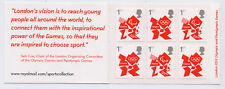 GB 2012 6 x 1st CLASS OLYMPIC SELF ADHESIVE STAMPS CYLINDER W1 BOOKLET MB9