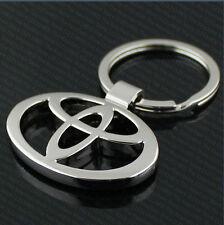 3D Metal Cromado Toyota Coche KEYRING LLAVERO KEY CHAIN YARIS AVENSIS AURIS PRIUS