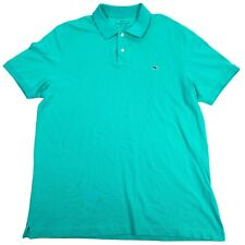 Vineyard Vines Classic Fit Green Short Sleeve Golf Polo Shirt - Mens Large L
