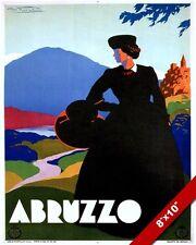 ABRUZZO TERAMO ITALY ITALIAN TRAVEL POSTER PAINTING ART GICLEEREAL CANVAS PRINT