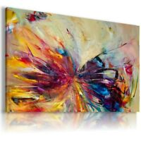 PAINTING BUTTERFLY ANIMALS PRINT CANVAS WALL ART PICTURE AB167  MATAGA