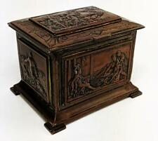 FRENCH ANTIQUE ROMAN STYLE ELECTROTYPE CASKET / BOX 19TH CENTURY