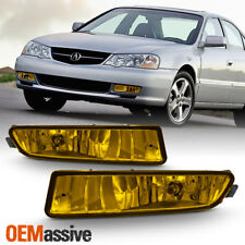 Fits 2002-2003 Acura TL TYPE-S Replacement Bumper Yellow Fog Lights Lamp W/Bulbs