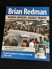 Firmado Brian Redman 'audaz controladores, pistas mortal's HB, Le Mans, Porsche, GT40