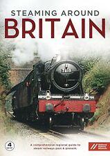 Steaming Around Britain Complete (New 4 DVD set) Steam Engines Railways Trains
