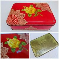Vintage Advertising Tin Biscuits MacFarlane Lang Printed Tin 1930s Yellow Rose