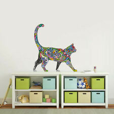 Cat animal Removable Art Vinyl Quote Wall Sticker Decal Mural Home color