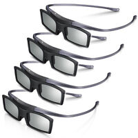 Lots 4 pcs New 4K HD UHD SUHD 3D Active TV Glasses For Sony Samsung Universal TV
