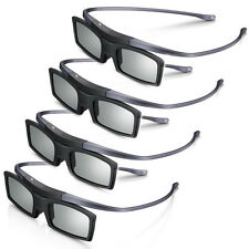 New 4K HD UHD SUHD 3D Active TV Glasses For Sony Samsung Universal TV 4 Pcs