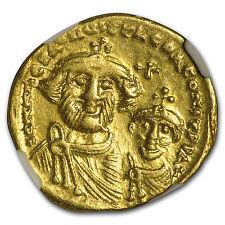 Byzantine Gold Solidus Emperor Heraclius (613-641 AD) CH XF NGC - SKU #95830