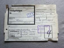 """Deutsche Bundesbahn, """"Hauptzettel für Stückgutwagen"""" 1979"""