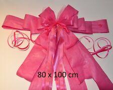 Moderne peppige Riesenschleife, Autoschleife mit Wunschdeko, 10 Farben, 3 Größen