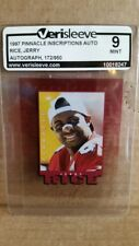 1997 Pinnacle Inscriptions /950 Autographed Jerry Rice 49ers MINT !