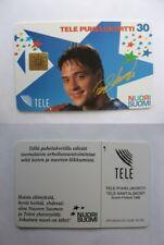1994-95 Tele Puhelukortti TS Teemu Selanne super rare phone card SSP script auto