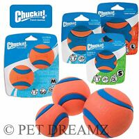 Chuckit Ultra Squeaker Ball Tough Dog Puppy Rubber Floating Toy – Fits Launchers