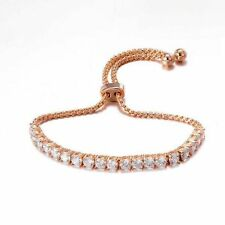 Classy 4 Cts Natural Diamonds Tennis Bracelet In Fine Hallmark 18Carat Rose Gold
