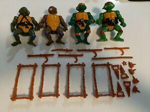 Lot of 4 Vintage 1988 Teenage Mutant Ninja Turtles TMNT Action Figures