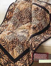 Wild Safari Quilt Pattern Pieced GC