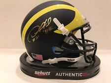 Desmond Howard Signed Schutt Michigan Authentic Mini Helmet 91 Heisman COA Holo