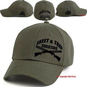 Clay Pigeon Shooting baseball cap SKEET TRAP Cap hat military green/black print