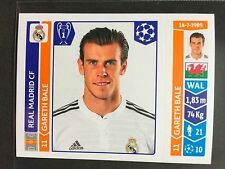 2014-15 Panini Champions League sticker # 117 Gareth Bale Real Madrid
