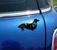 Detailed Long Hair Haired Dachshund Doxie Graphic Decal Sticker Car Vinyl