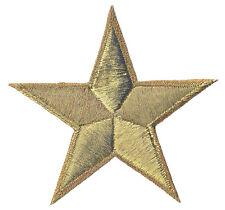 Badge écusson patche transfert hotfix thermo étoile dorée 85 mm patch