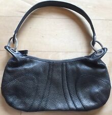 BANANA REPUBLIC Bronze Brown Pebbled Leather Hobo Shoulder Bag Handbag Metallic