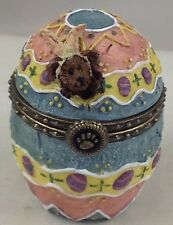 Boyds Bears & Friends Uncle Bean'S Treasure Boxes Fabearlous Egg c2001 Retired