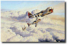 Zemke's Wolfpack by Robert Taylor - Signed by (4) 57th FG Pilots - Aviation Art
