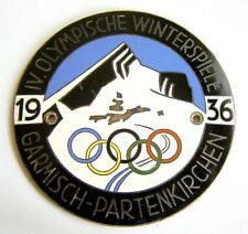 h526 Germany 1936 BERLIN AUTOMOBIL CLUB car grille enamel original badge