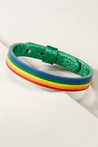 Keep Collective Emerald Green/rainbow Leather Band Collectors Edition New