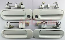 Fit For Toyota Camry 92-96 White Front Rear Left Right Outside Door Handle 4PCS