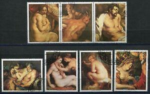 530b - PARAGUAY 1987 - Art - Paintings - Nudes - Used Set + Label