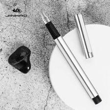Jinhao 65 Steel Metal Fountain Pen Extra Fine Nib 0.38mm Converter Writing Gift