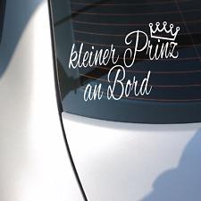 Autoaufkleber Aufkleber KLEINER PRINZ AN BORD Junge König Kind Achtung Mutter