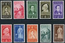 1937 Centenari di Uomini Illustri - 10 valori Nuovi MNH Regno S91