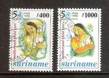 Suriname Republiek   Nr 1007/1008   Gebruikt.