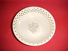 Vintage Small White Bowl with Golden Wheat Design