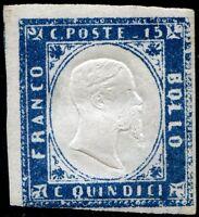 Regno d'Italia 1863 n. 11d - 15 c. celeste latteo ** (m283)