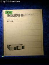 Sony Bedienungsanleitung MTL 10 japanisch (#0450)