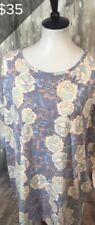 LuLaRoe 3XL Irma Top T Shirt Aztec Geometric Floral Super Major Unicorn XXXLarge