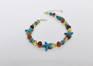 Genuine Baltic Amber Beads Anklet