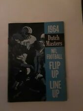 1964 DUTCH MASTERS NFL FOOTBALL FLIP UP LINE UP