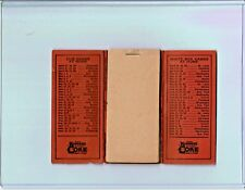 1936 KOPPERS COKE Chicago Cubs White Sox baseball schedule w/ note pad
